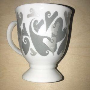Mary Kay Heart Print pedestal mug